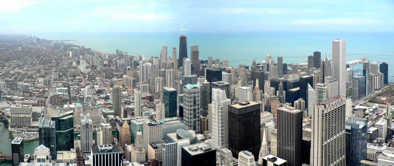 Chicago panorama stock photography