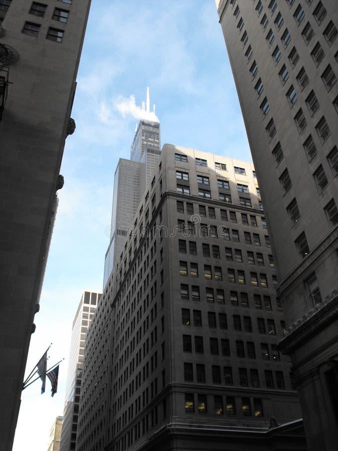Chicago - para baixo céu da cidade foto de stock