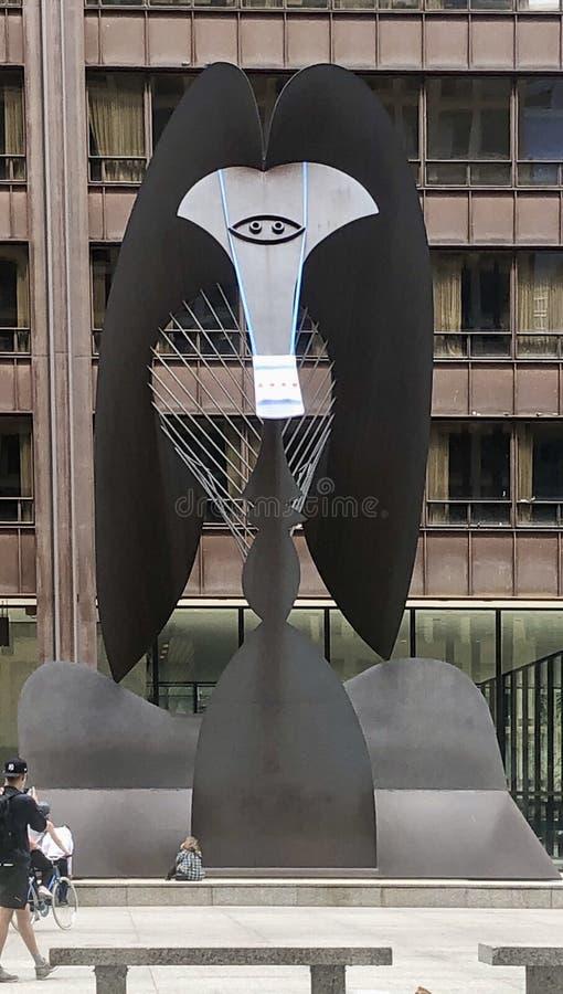 Chicago Picaso nosi covid 19 maska #2 obrazy stock