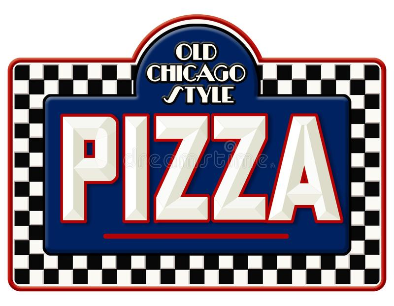 Chicago Pizza Sign royalty free illustration