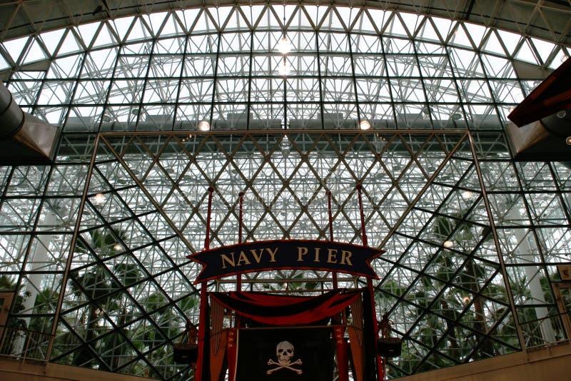 Chicago - plafond de pilier de marine photo libre de droits