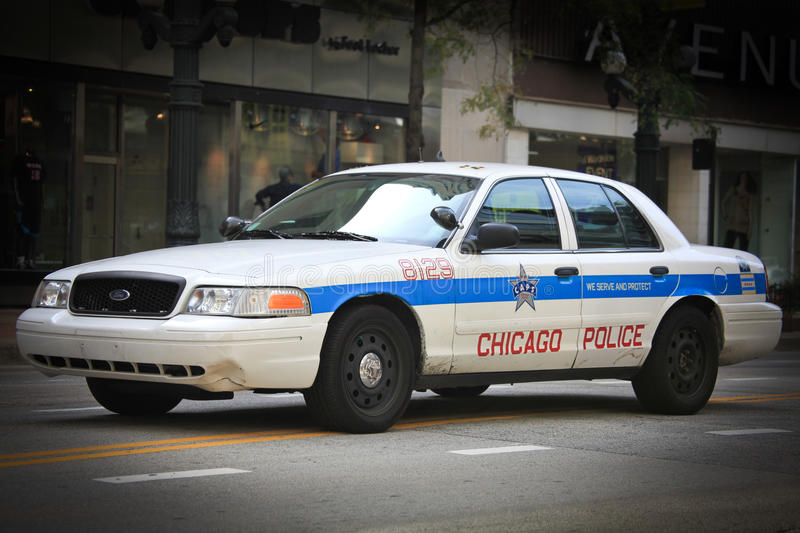 Chicago Police Car stock images