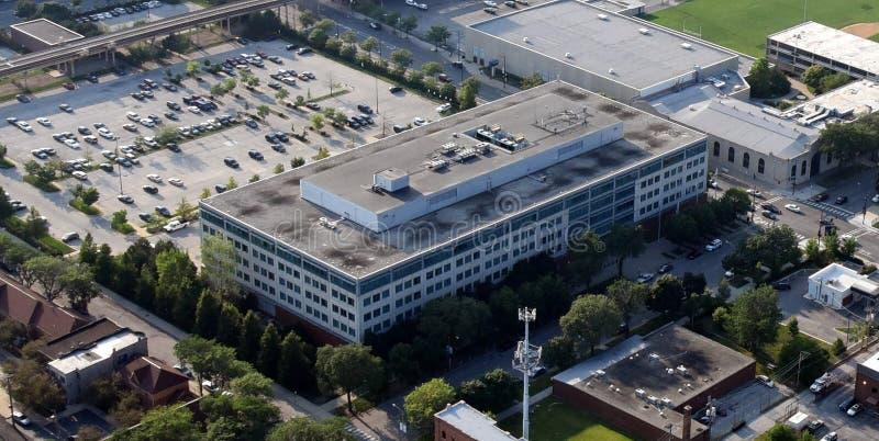 Chicago-Polizeihauptquartier von der Luft stockbilder