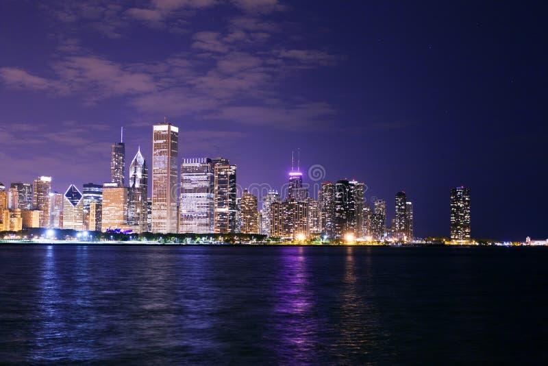 Chicago przy Noc zdjęcie royalty free