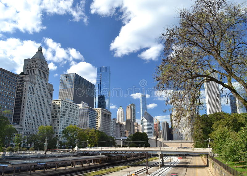 Chicago rail lines stock photos