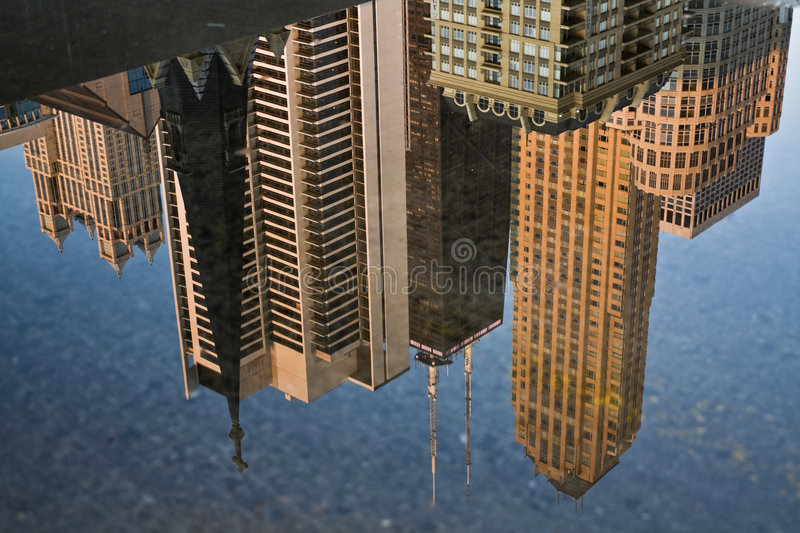 Chicago reflected royalty free stock image