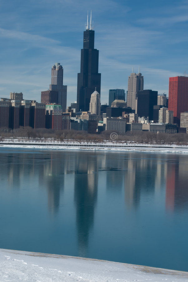 Download Chicago Reflexion stock photo. Image of skyline, city - 5077928