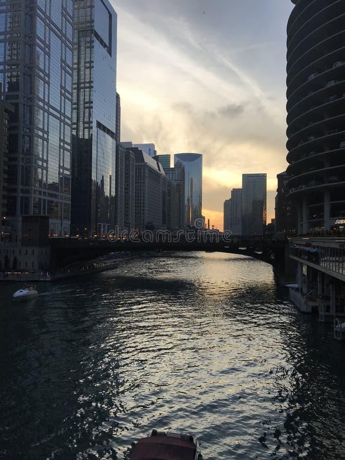 Chicago River fotografia stock libera da diritti