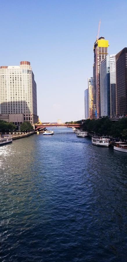 Chicago River fotos de stock