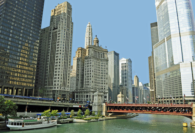 Chicago River stock image