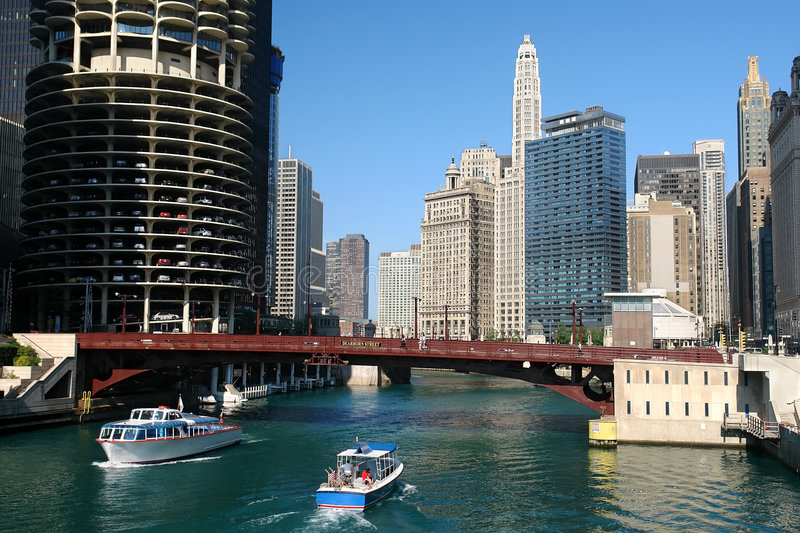 Download Chicago river stock image. Image of office, ship, light - 7997565