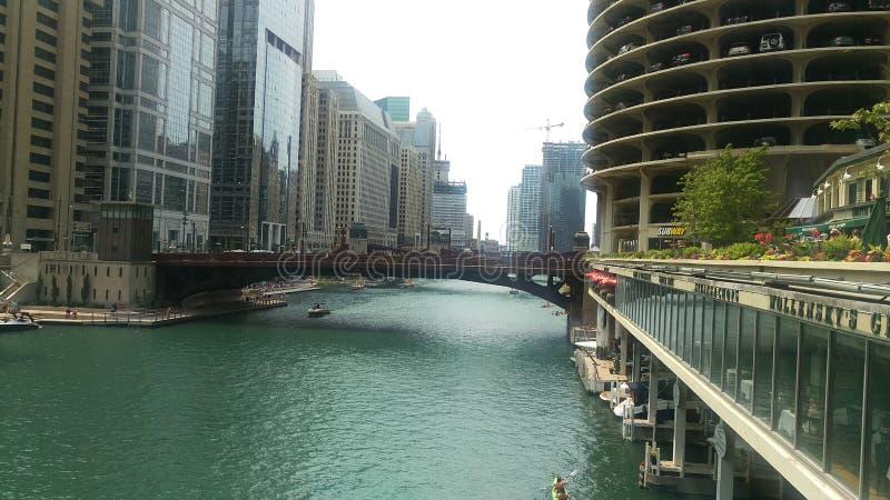 Chicago River lizenzfreie stockfotos