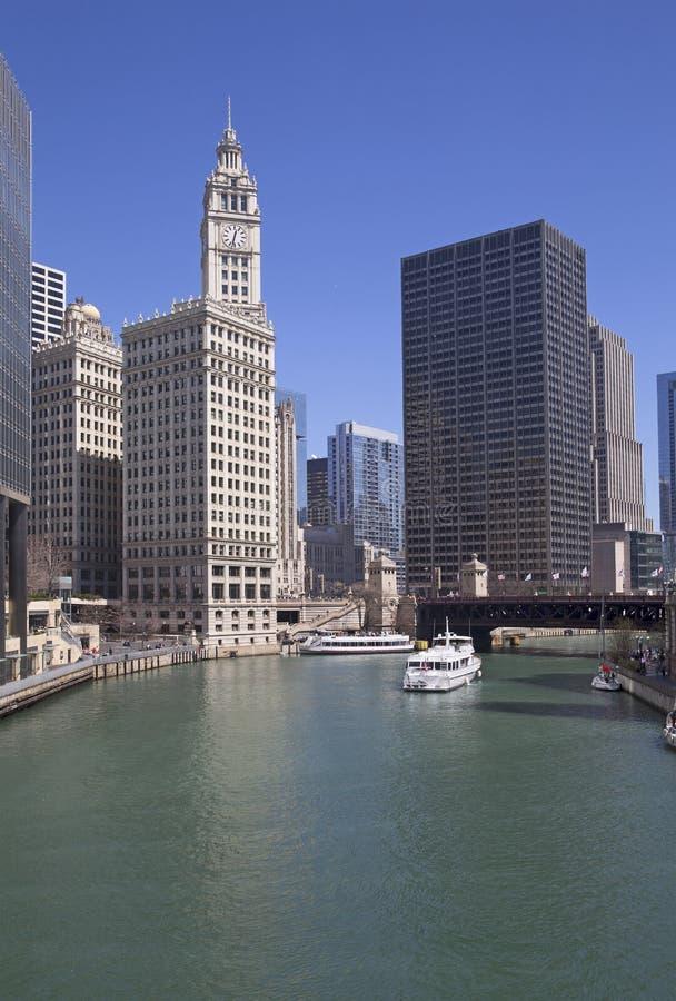 Chicago River beskådar royaltyfri bild