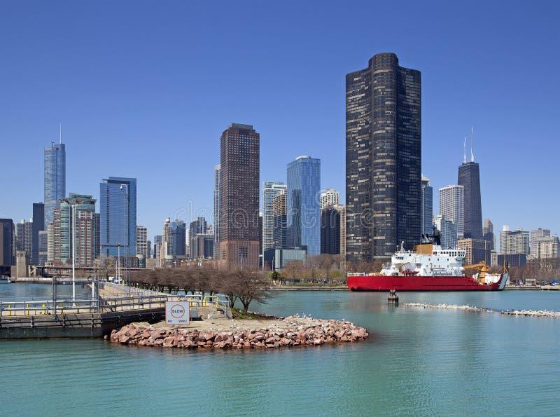 Chicago River beskådar arkivfoton