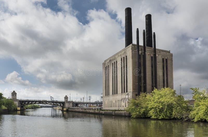 Chicago River, Chicago Illinois lizenzfreie stockbilder