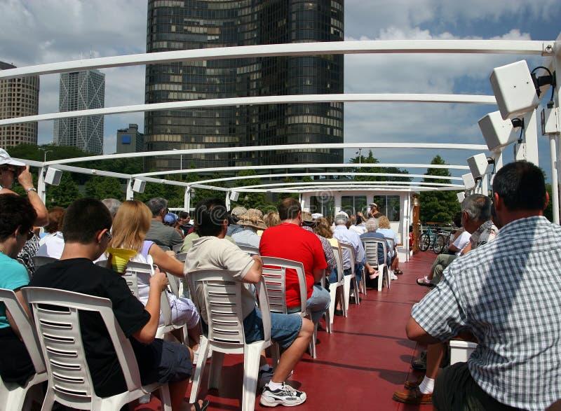 chicago riverboat royaltyfri foto