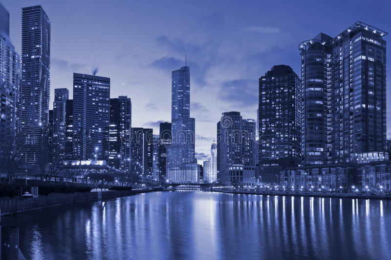 Download Chicago riverside stock photo. Image of scene, chicago - 18727062