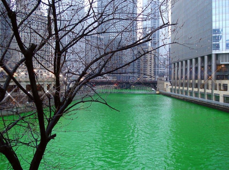 chicago rzeka fotografia stock