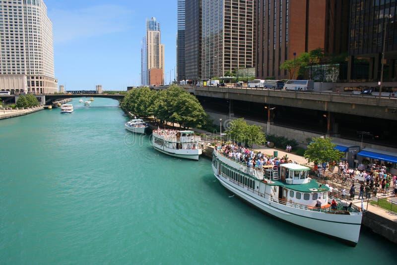 chicago rzeki fotografia stock