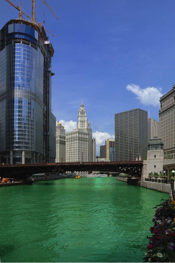 chicago rzeki zdjęcie royalty free