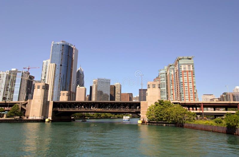 chicago rzeki obraz royalty free
