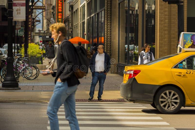 Chicago södra Wabash aveny arkivfoto