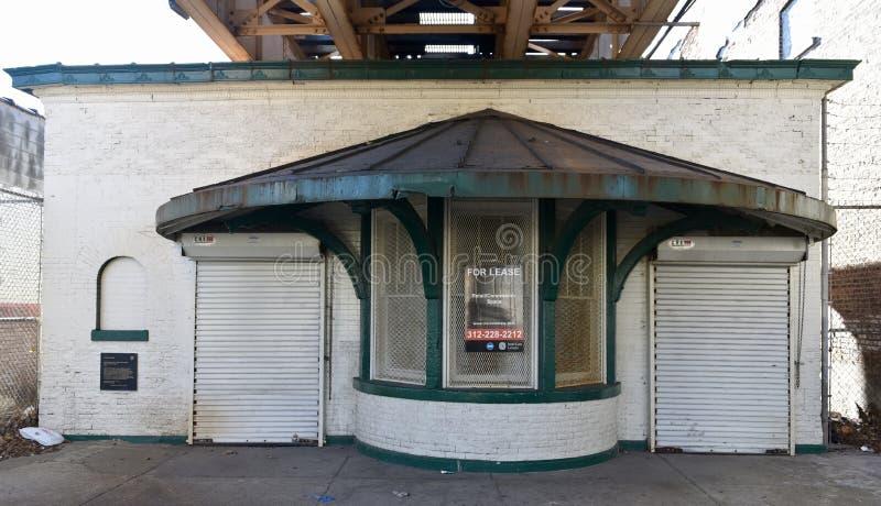 Chicago-` s ältestes ` L ` Station stockbilder
