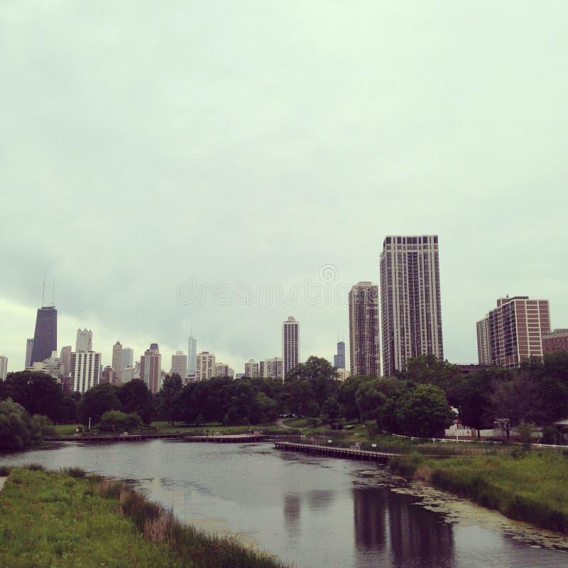 Chicago scape stock afbeelding