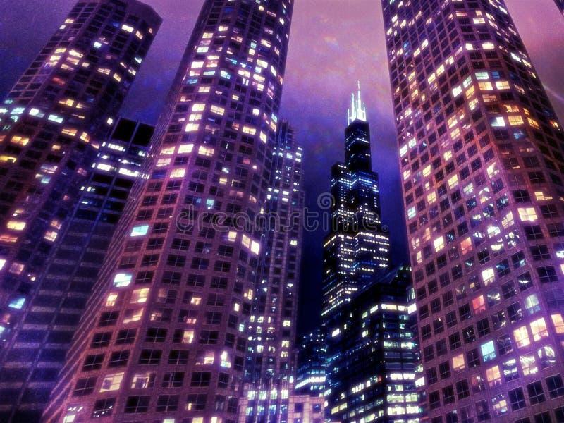 Chicago schroeit Toren royalty-vrije stock foto