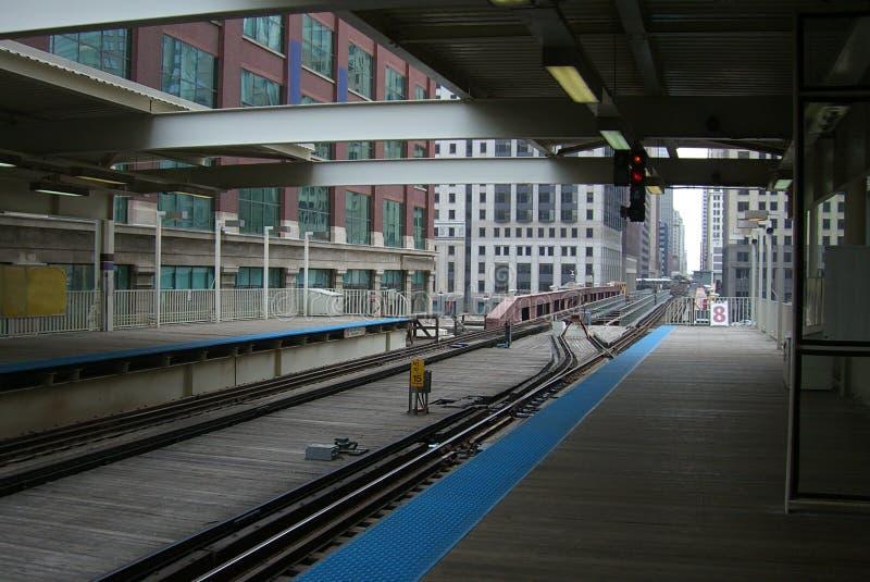 Chicago-Serien-Plattform lizenzfreie stockbilder
