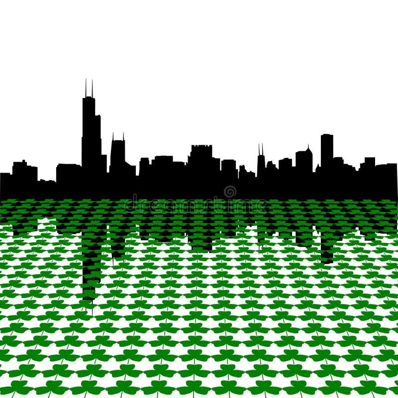 chicago shamrocks linia horyzontu royalty ilustracja