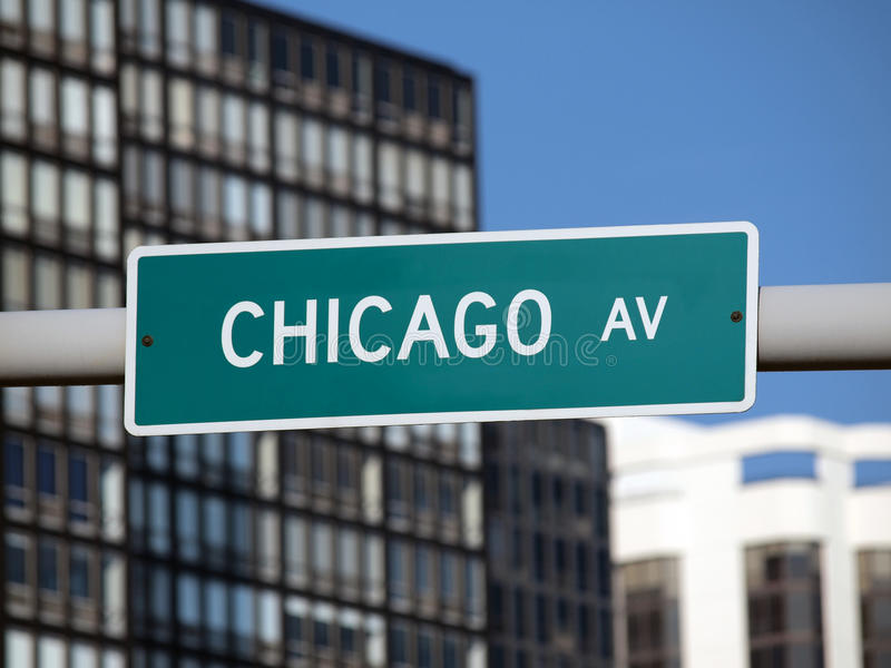 Chicago Sign royalty free stock photo