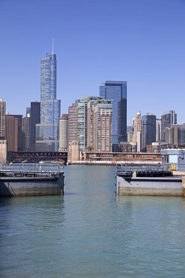 Chicago sikt royaltyfri fotografi