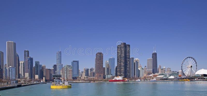 Chicago sjösikt arkivbilder