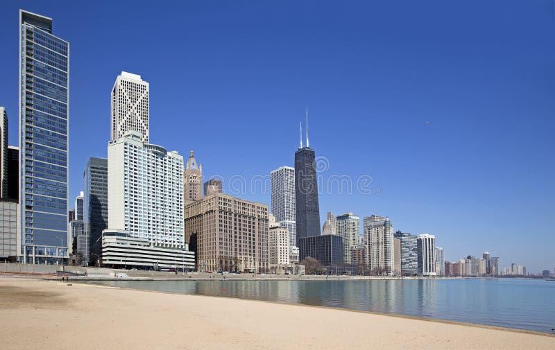 Chicago sjösikt royaltyfria foton