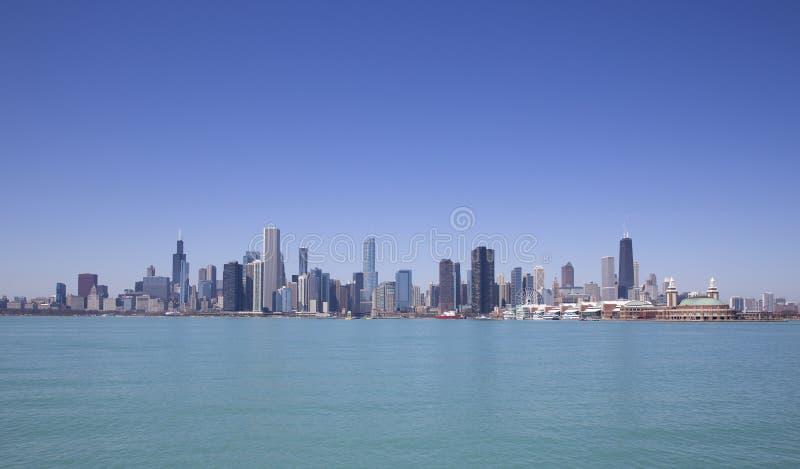 Chicago sjösikt fotografering för bildbyråer