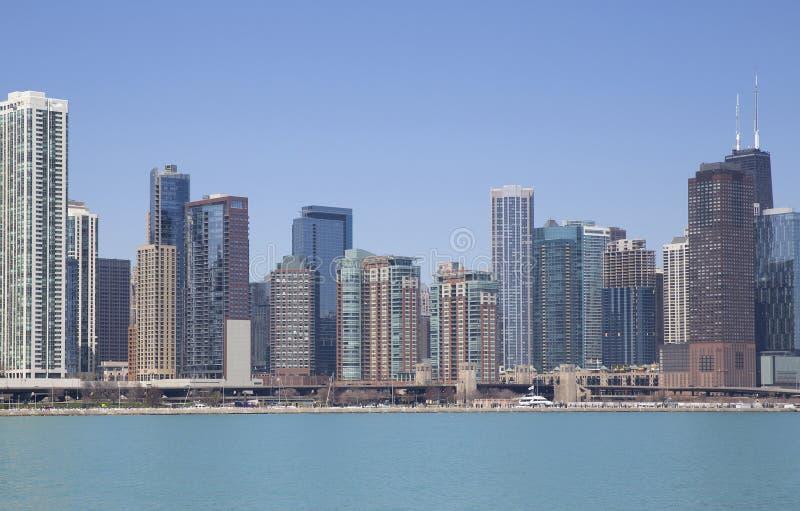 Chicago sjösikt arkivfoto