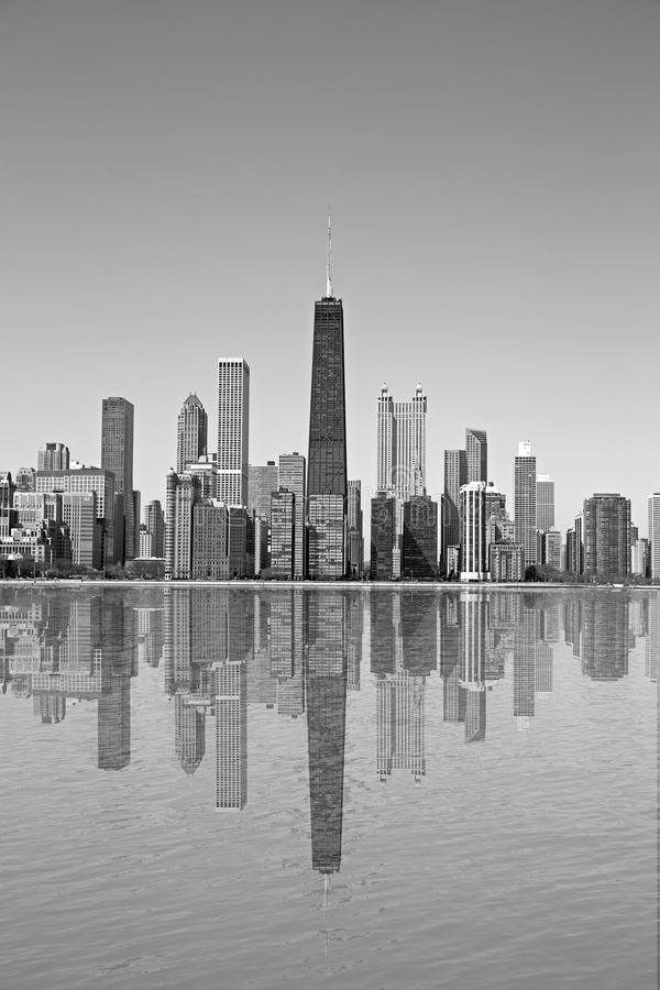 Chicago sjösikt royaltyfri fotografi