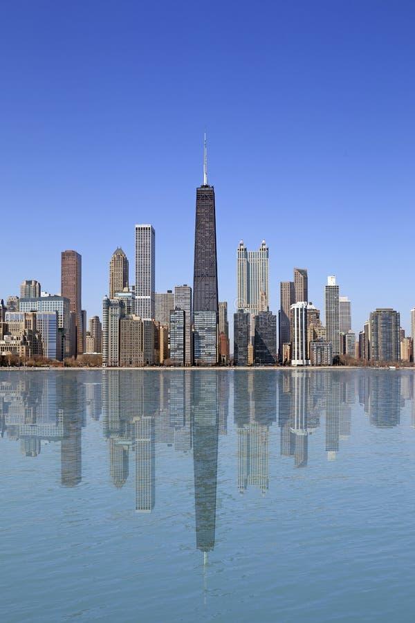 Chicago sjösikt arkivbild