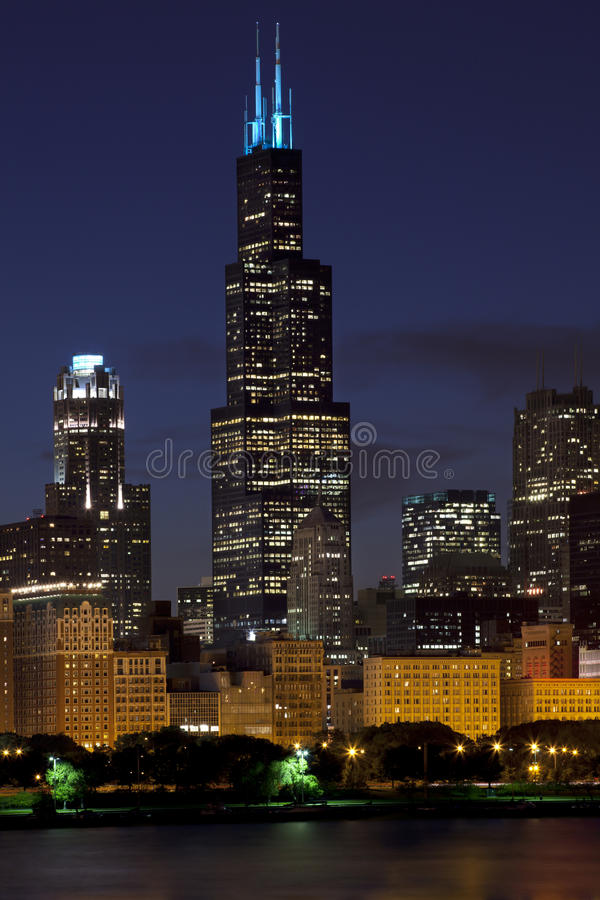 Chicago Skiline photographie stock