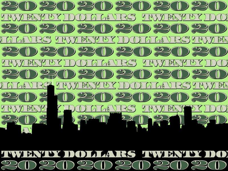 Chicago-Skyline lizenzfreie abbildung