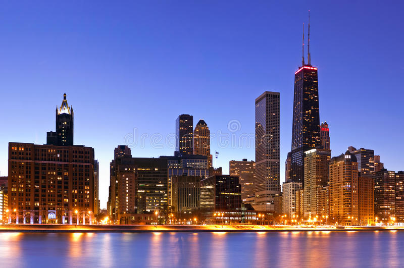 Download Chicago Skyline stock photo. Image of reflection, estate - 18338898