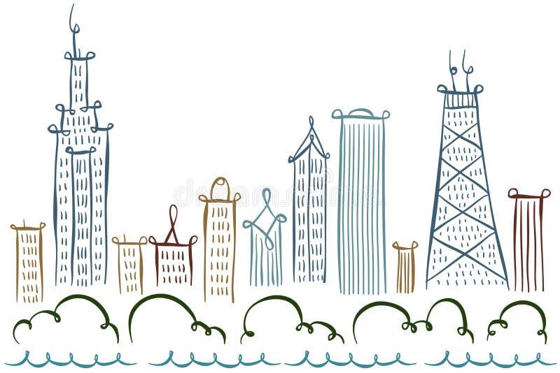 Chicago Skyline stock illustration