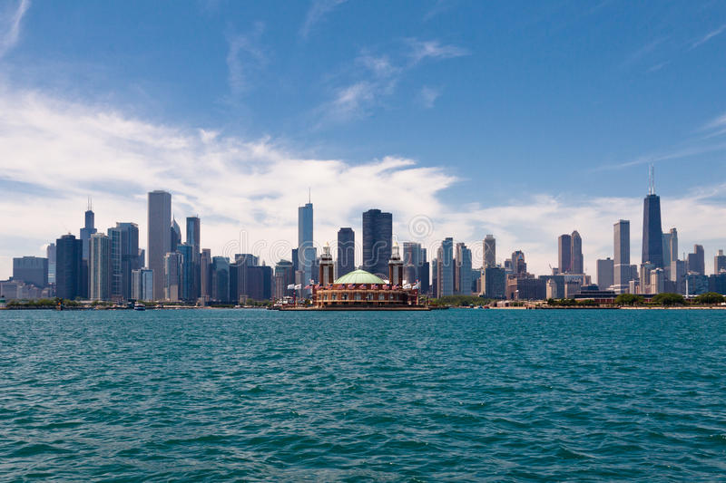 Download Chicago Skyline editorial image. Image of center, towers - 24697395