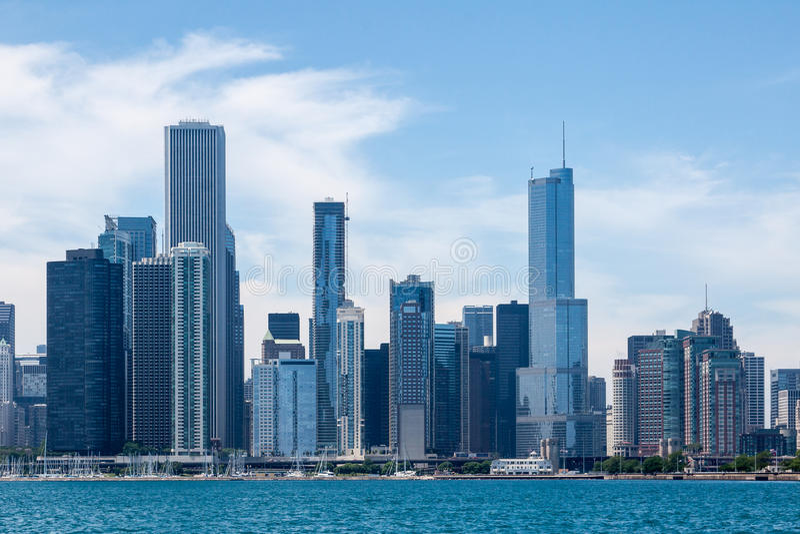 Download Chicago Skyline stock image. Image of glass, skyscraper - 24921831