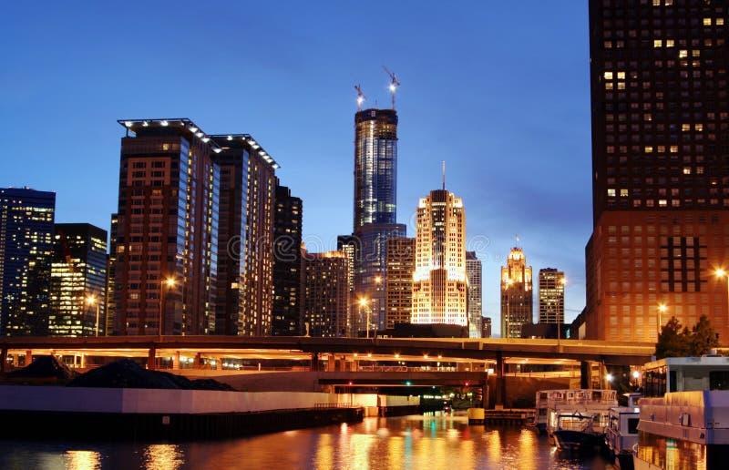 Chicago-Skyline stockbild