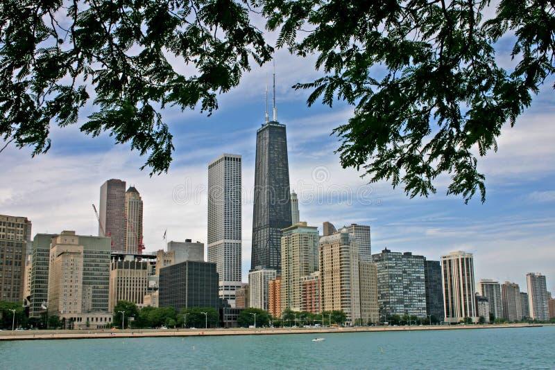 Chicago Skyline from Lake Michigan royalty free stock photo