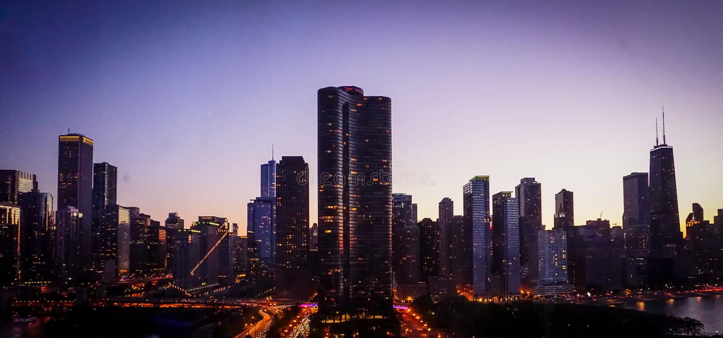Chicago Skyline - Navy Pier stock photo