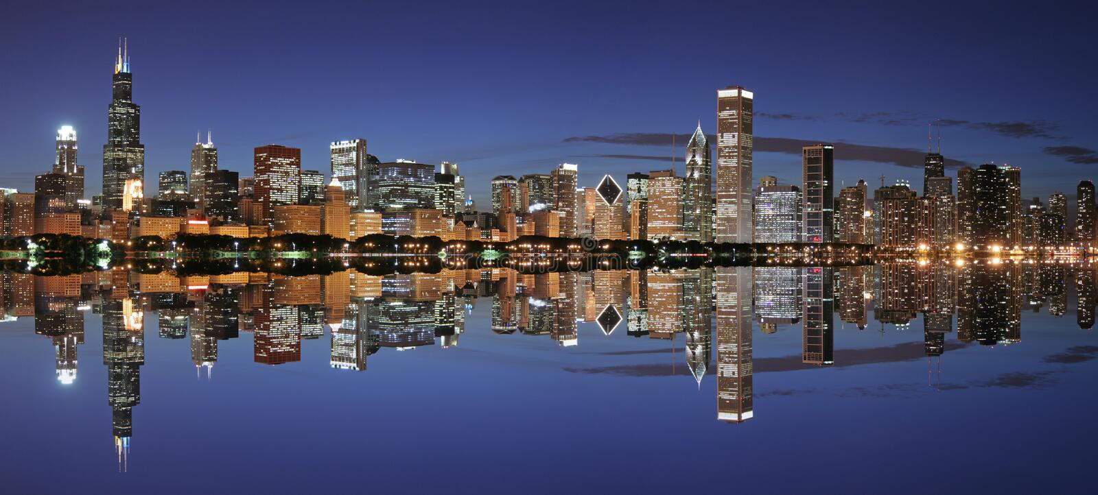 Download Chicago skyline panoramic stock image. Image of shore - 2798699
