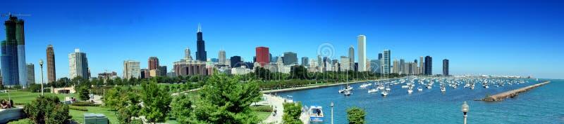 Chicago-Skyline panoramisch stockfoto